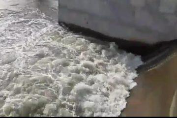 Após dias de manutenção, transposição volta a bombear água no canal leste em Monteiro