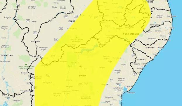 inmet - Inmet emite alerta de baixa umidade para 106 cidades da Paraíba