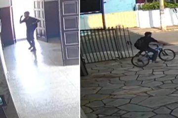 LADRÃO CRISTÃO? Homem entra em igreja e faz sinal da cruz antes de furtar bicicleta – VEJA VÍDEO