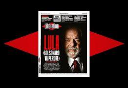 """Lula é capa do jornal francês Libération: """"Bolsonaro vai perder"""""""