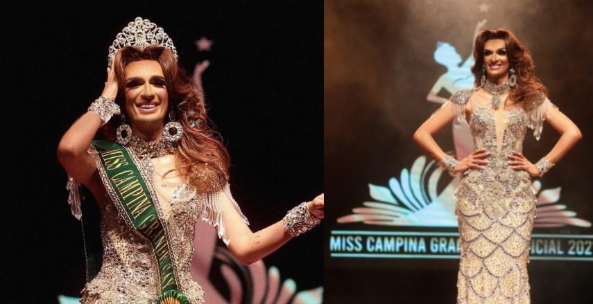 """Eduarda Prada é eleita a Miss Campina Grande Gay 2021: """"Coração cheio de gratidão"""""""