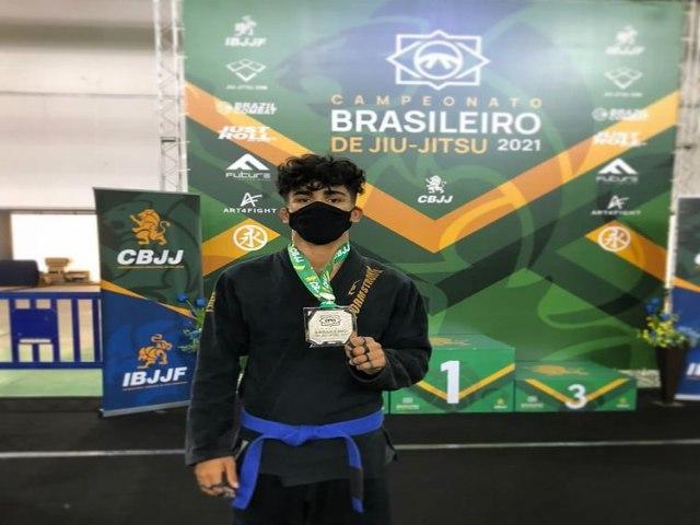 not 6675 20211003210256 - Paraibano conquista o Vice-campeonato do brasileiro de Jiu-jitsu na categoria meio pesado