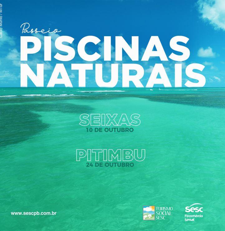 pscinas - Sesc realiza reserva para passeios em piscinas naturais de Seixas e Pitimbu