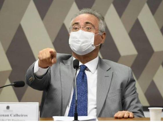 """renan - Renan diz que Bolsonaro estará """"com certeza"""" no rol de indiciados do relatório da CPI"""