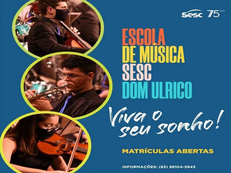 ses - Sesc abre matrículas para Escola de Música Dom Ulrico, em João Pessoa