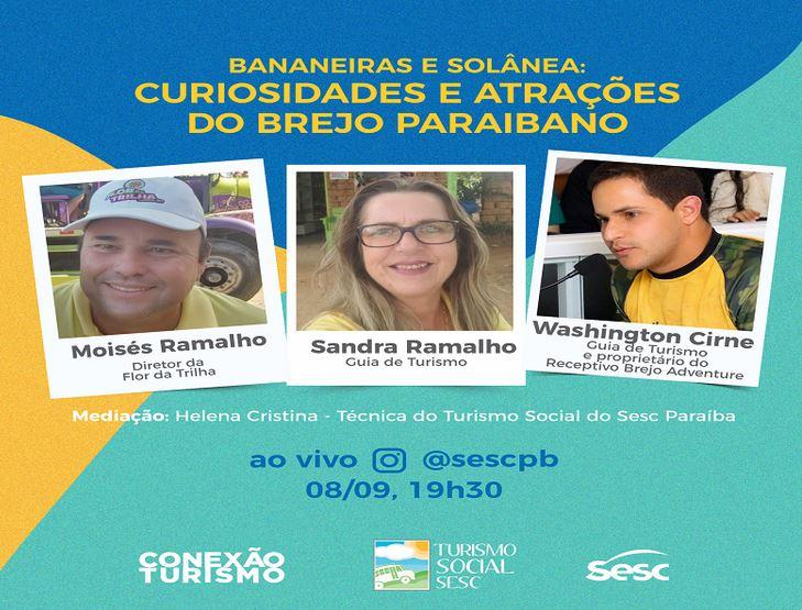 sss - Live do Sesc fala sobre o turismo na região do Brejo